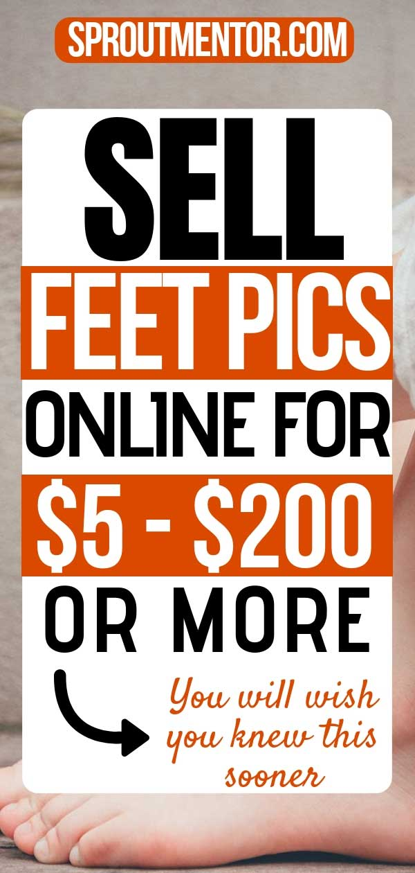 Are you looking for weird ways to make money online? Selling your feet pictures is one of the best side jobs from home to make extra cash every month. #feet #feetpics #sellfeetpics #howtosellfeetpics #picsformoney #footfetish #makemoneyonline #onlinejobs #workfromhomejobs #workathomejobs
